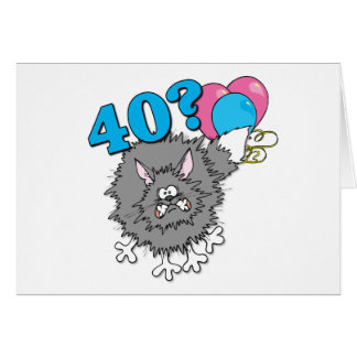Regalo del gato de 40 cumpleaños tarjetas