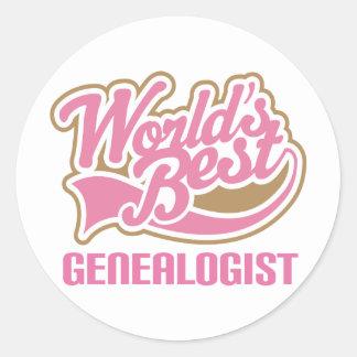 Regalo del Genealogist Pegatina Redonda