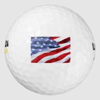 Regalo del golf de la bandera americana pack de pelotas de golf