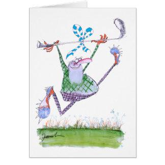 regalo del golf, fernandes tony tarjeta de felicitación