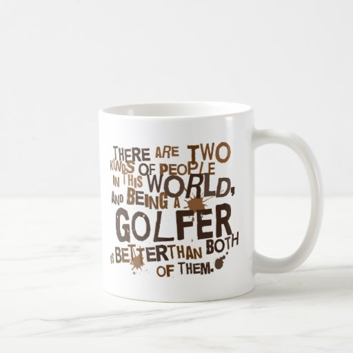 Regalo del golfista taza básica blanca