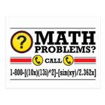 Regalo del humor del curso particular de la matemá tarjetas postales