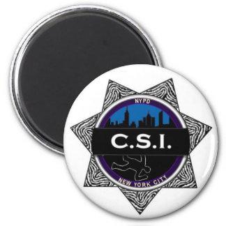 Regalo del imán de la show televisivo de CSI Nueva