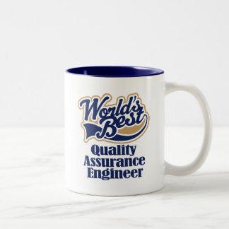 Regalo del ingeniero de la garantía de calidad taza dos tonos