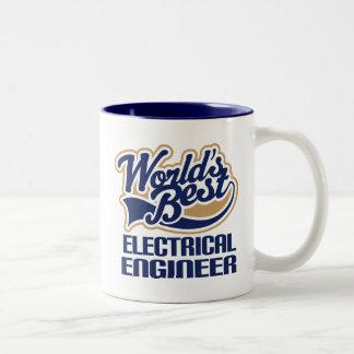 Regalo del ingeniero eléctrico (mundos mejores) taza dos tonos