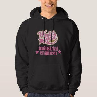 Regalo del ingeniero industrial (mundos mejores) suéter con capucha