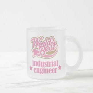 Regalo del ingeniero industrial (mundos mejores) taza de cristal