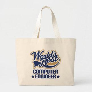 Regalo del ingeniero informático bolsa de tela grande