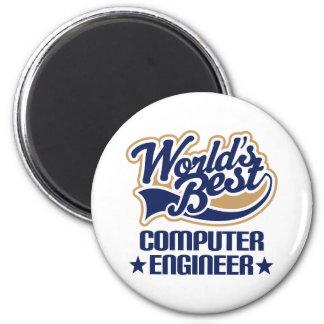 Regalo del ingeniero informático imán redondo 5 cm