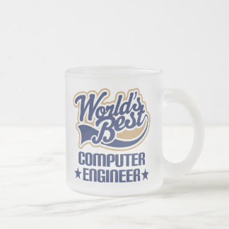 Regalo del ingeniero informático taza de cristal