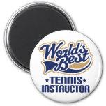 Regalo del instructor del tenis iman
