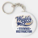 Regalo del instructor del tenis llaveros personalizados