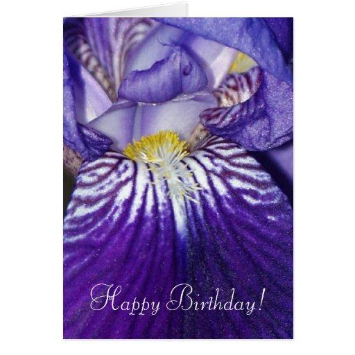 Regalo del iris de Midinight y tarjeta de felicita