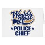 Regalo del jefe de policía tarjetas