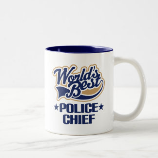 Regalo del jefe de policía taza de dos tonos