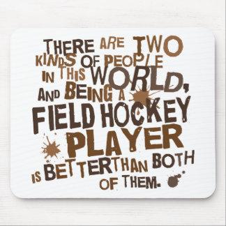 Regalo del jugador de hockey hierba alfombrilla de ratones