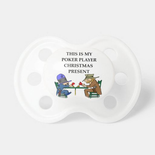 regalo del jugador de póker chupetes para bebes