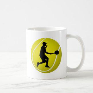 Regalo del jugador de tenis para hombre taza de café