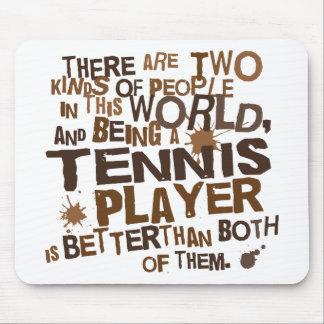Regalo del jugador de tenis tapete de ratón