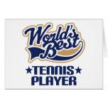 Regalo del jugador de tenis tarjeta