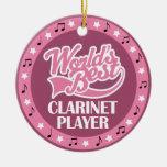 Regalo del jugador del Clarinet para ella Adornos De Navidad