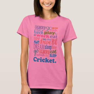 Regalo del jugador del grillo para la camiseta de