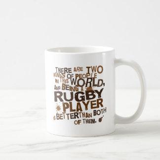 Regalo del jugador del rugbi taza básica blanca