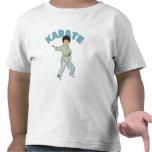 Regalo del karate de los niños camisetas