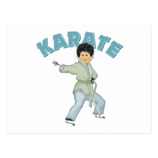 Regalo del karate de los niños tarjetas postales
