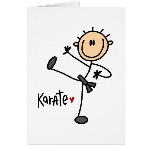 Regalo del karate tarjeta de felicitación