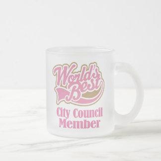 Regalo del miembro del Consejo de la ciudad Taza De Cristal