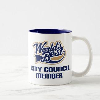 Regalo del miembro del Consejo de la ciudad Taza De Dos Tonos