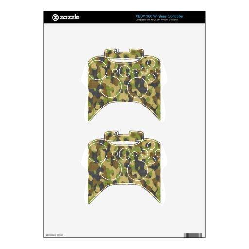 Regalo del modelo de la materia textil del camufla mando xbox 360 skins