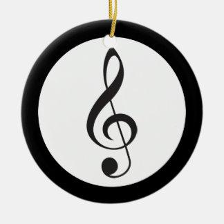Regalo del músico del recuerdo del Clef agudo de l Ornamentos De Reyes