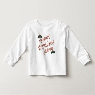 Regalo del navidad de Jesús del feliz cumpleaños Poleras