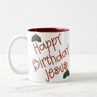 Regalo del navidad de Jesús del feliz cumpleaños Taza De Café