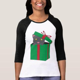 Regalo del navidad de la sorpresa del gatito camiseta