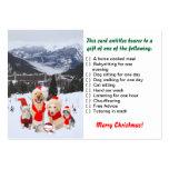 Regalo del navidad de la tarjeta del servicio plantillas de tarjeta de negocio