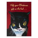 Regalo del navidad del gato felicitaciones