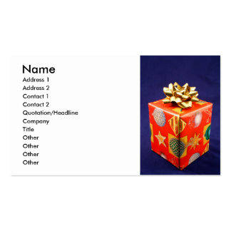 Regalo del navidad tarjetas de visita