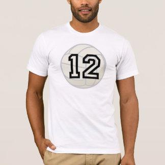 Regalo del número 12 del uniforme del jugador de playera
