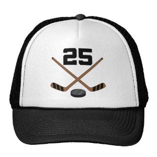 Regalo del número 25 del jersey del jugador del ho gorras
