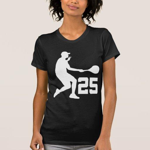 Regalo del número 25 del jugador de tenis camiseta