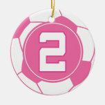 Regalo del número 2 del jugador de fútbol de los c adornos