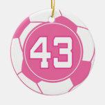 Regalo del número 43 del jugador de fútbol de los  ornamentos para reyes magos