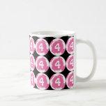 Regalo del número 4 del jugador de fútbol de los c taza de café