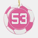 Regalo del número 53 del jugador de fútbol de los  ornamento de reyes magos