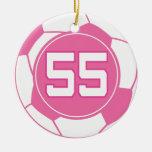 Regalo del número 55 del jugador de fútbol de los  adornos de navidad