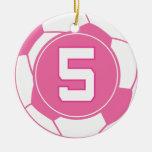 Regalo del número 5 del jugador de fútbol de los c adorno