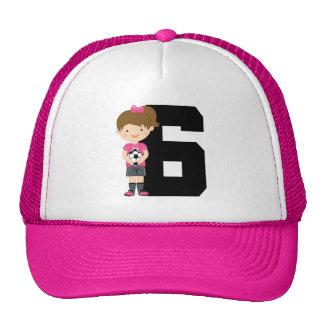 Regalo del número 6 del jersey de fútbol (chicas) gorras